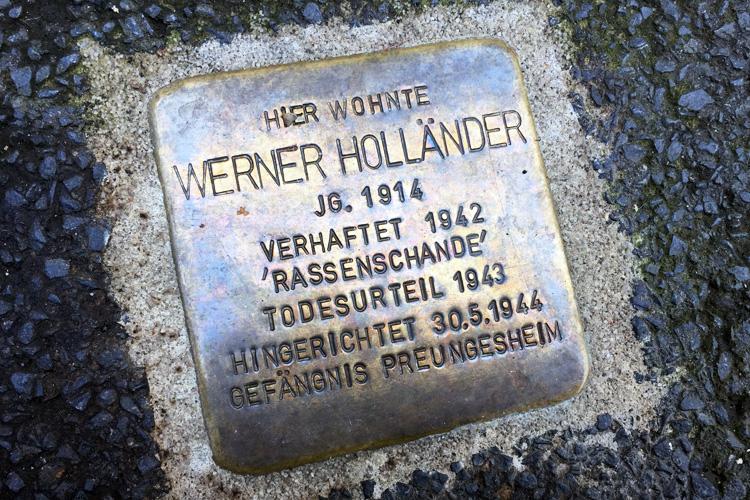 Stolperstein im Philosophenweg in Kassel